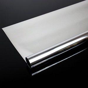 Rapid Teck® 8,19€/m² 300 x 61 cm Spiegelfolie Kratzfest Sonnenschutzfolie UV Schutz Sichtschutzfolie 99% UV-Schutz selbstklebend
