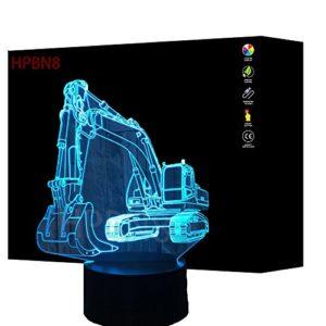 3D Bagger Illusions LED Lampen Fernbedienung 7/16 Farbwechsel Acryl Berühren Tabelle Schreibtisch-Nacht licht mit USB…