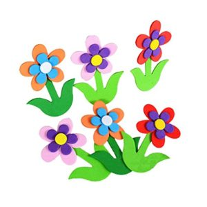 4 PICS 3D-Design Multi-Farbe Blumen Kinderzimmer Deko-Material