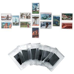 50 teiliges Set Rohlinge Magnetische Kühlschrank Fotorahmen Bilderrahmen Magnetrahmen von Kurtzy – Hochwertige transparente Acryl Kühlschrankmagnetem mit Bild Einsatz Größe 7cm x 4.5cm – Magnetischer Rahmen Ideal für Familienfotos