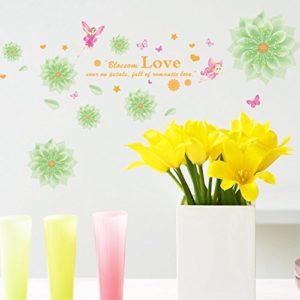 ALLDOLWEGE Wall Sticker Home Decor Aufkleber Romantisches Schlafzimmer Dekoration Hochzeit Wand Aufkleber Aufkleber