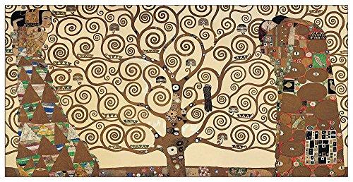 Artopweb EC40175 Klimt-The Tree of Life, Holz, Bunt, 100 x 1.8 x 50 cm