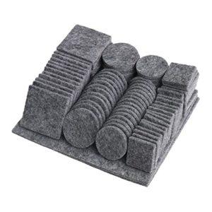 BQLZR grau, rund, Filz, selbstklebend, für Stühle, Tische, Möbel-Pads, Anti-Rutsch-Boden-Displayschutzfolie), 98