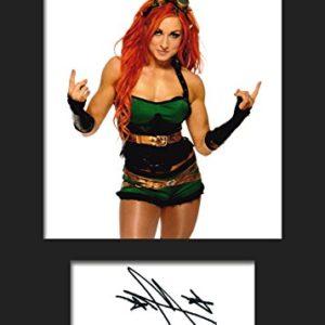 Becky Lynch WWE | Signierter Fotodruck | A5 Größe passend für 6×8 Zoll Rahmen | Maschinenschnitt | Fotoanzeige | Geschenk Sammlerstück