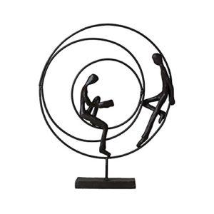 Casablanca – Skulptur, Design Figur – Circles – Höhe: 23 cm – Eisen brüniert