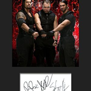 The Shield WWE #1 | Signierter Fotodruck | A5 Größe passend für 6×8 Zoll Rahmen | Maschinenschnitt | Fotoanzeige | Geschenk Sammlerstück
