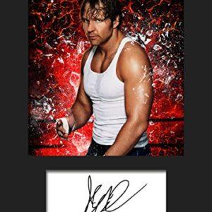 Dean Ambrose WWE | Signierter Fotodruck | A5 Größe passend für 6×8 Zoll Rahmen | Maschinenschnitt | Fotoanzeige | Geschenk Sammlerstück
