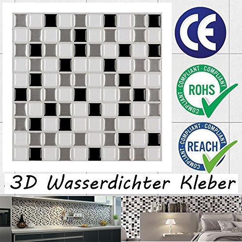 ecoart selbstklebende 3d fliesenaufkleber wasserdicht. Black Bedroom Furniture Sets. Home Design Ideas