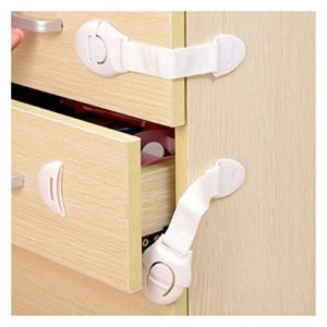ECYC® 10Pcs / Lot verriegelnde Schranktüren für Kindersicherheit scherzt Plastikverschluss, Weiß