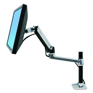 LX Monitor Arm mit hoher Säule in Aluminium – Monitor Tischhalterung mit patentierter CF-Technologie für Bildschirme bis…