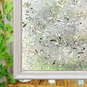 Fenster satinierte Folie, Glas Sichtschutz Folie, wiederverwendbar UV Statische Folie für Fenster Glas Home
