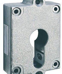 Gedotec Aufschraubschloss Kasten Riegelschloss Profilzylinder Möbelschloss RENO Aufschraubschloss | Stahl vernickelt…