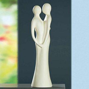 Gilde Sculpture Francis 'Untrennbar' – creme 30317