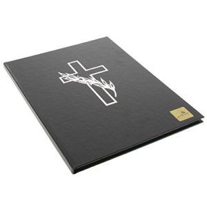 goldbuch Kondolenzbuch, 21 x 28 cm, 44 weiße Blankoseiten, Kunstleder, Schwarz, 11375