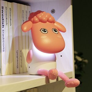 Happy-Sheep-Schreibtisch-Leselampe, aufladbar, USB, perfektes Geschenk für Kinder/Schüler grau