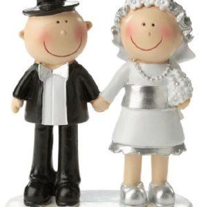 Hochzeit Dekoration Jubiläumspaar: Figur für die Silberhochzeit, 85 mm, Polyresin