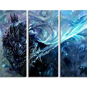 Paul Sinus Art Keilrahmenbild auf Leinwand 3 teilig Wow Lich King 3x90x40cm (Gesamt 120x90cm) Ausführung schöner…
