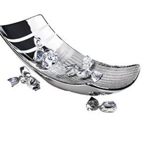 Kobolo Moderne Dekoschale in der Farbe Silber