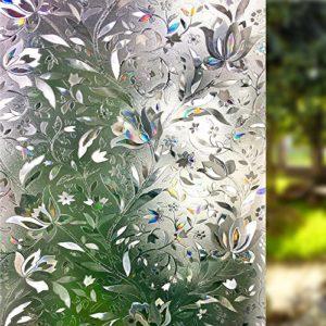 Lemon Cloud 3D Fensterfolie 90×200 Sichtschutz Folie Fenster für Home Dekoration und Sichtschutz,tulpe folie für fenster, 90cmx200cm
