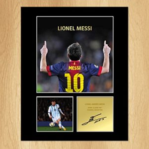 Lionel Messi signiertes Foto Display FC Barcelona