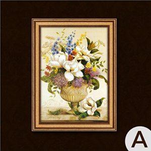 MINRAN DECOR A Druck Poster Kunstdruck – Blumen ZS2304 – Modern Art Canvas Print – Canvas Print Stretched on a Frame als Moderne Wanddekoration