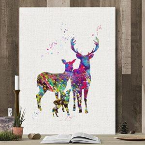 MINRAN DECOR A Premium Kunstdruck Wand-Bild – elk CP164 – 30x40cm Leinwand-Druck – Leinwand-Bilder auf Holz-Keilrahmen als moderne Wanddekoration