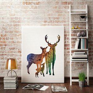 MINRAN DECOR A Premium Kunstdruck Wand-Bild – elk CP171 – Leinwand-Druck – Leinwand-Bilder auf Holz-Keilrahmen als moderne Wanddekoration