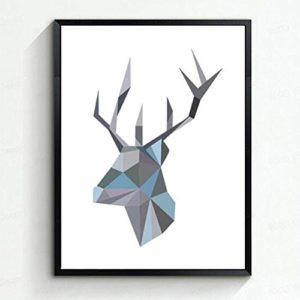 MINRAN DECOR A Premium Kunstdruck Wand-Bild – elk CP188 – Leinwand-Druck – Leinwand-Bilder auf Holz-Keilrahmen als moderne Wanddekoration, A, 30*40CM