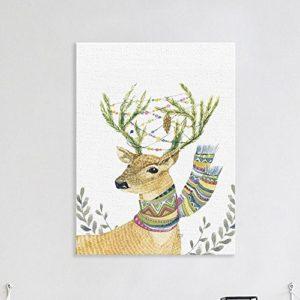 MINRAN DECOR A Premium Kunstdruck Wand-Bild – elk CP190 – Leinwand-Druck – Leinwand-Bilder auf Holz-Keilrahmen als moderne Wanddekoration, 1, 30*25CM
