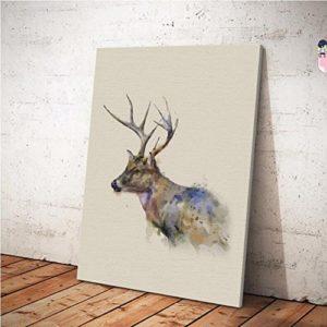 MINRAN DECOR A Premium Kunstdruck Wand-Bild – elk CP201 – Leinwand-Druck – Leinwand-Bilder auf Holz-Keilrahmen als moderne Wanddekoration, 2, 30*40CM