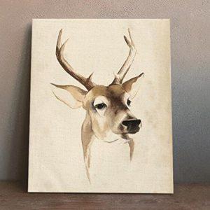 MINRAN DECOR A Premium Kunstdruck Wand-Bild – elk CP204 – Leinwand-Druck – Leinwand-Bilder auf Holz-Keilrahmen als moderne Wanddekoration, 1, 30*25CM
