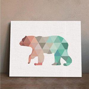 MINRAN DECOR A Premium Kunstdruck Wand-Bild – elk CP209 – Leinwand-Druck – Leinwand-Bilder auf Holz-Keilrahmen als moderne Wanddekoration
