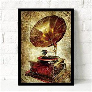 MINRAN DECOR C Druck Poster Kunstdruck – Cafe Malerei B – Modern Art Canvas Print – Canvas Print Stretched on a Frame…