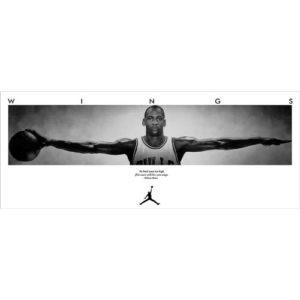 Michael Jordan (36inch x 14inch / 90cm x 35cm) Silk Print Poster – Seide Plakat – 9030AE