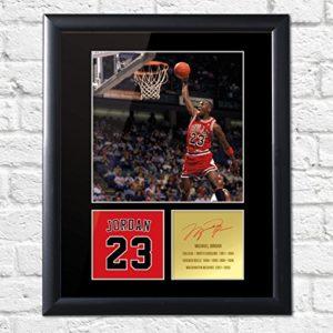 Michael Jordan Chicago Bulls Signiertes Foto, gerahmt