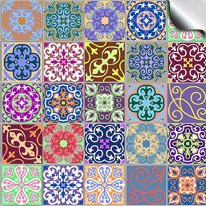 Multi Pack 2 – – Stück 15cm Verschiedene Mosaic Wandfliese Aufkleber für 150mm quadratische Fliesen () Einfach abziehen und aufkleben um Ihre Küche, Bad oder wo immer Sie auch Fliesen haben, völlig umzugestalten. HALTBAR: Ölresistent, wasserresistent, hitzeresistent und resistent gegen Bleiche – Sehr realistisch aussehende Fliesentransfers. TOP QUALITÄT – Tausende bereits verkauft – FABRIKPREIS, kein Mittelmann