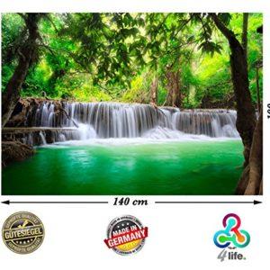 PMP-4life XXL Poster Wasserfall in Thailand Natur HD 140cm x 100cm Hochauflösende Wand-dekoration Bild für…