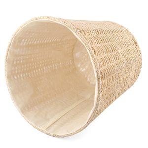 Papierkorb, Lommer Rewebte Eisenrahmen Rund Papierkorb vintage Mülleimer Klein Abfalleimer für Schlafzimmer, Badezimmer…