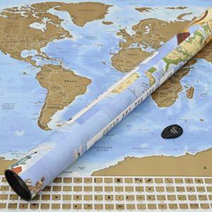 Perfect Travel Map – wunderschöne XXL Rubbel-Weltkarte, Weltenbummler, Globetrotter, Urlauber, Backpacker oder Sprachschüler (Poster: 83,6 x 60,5cm)