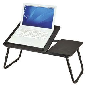 Ribelli Laptoptisch schwarz als Tabletttisch fürs Bett oder Sofa aus Holz – Tablet-Halterung faltbar für Laptop oder…