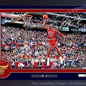 S & E Desing Michael Jordan NBA Signed Autograph Foto Poster Print Chicago Bulls gerahmt 0013