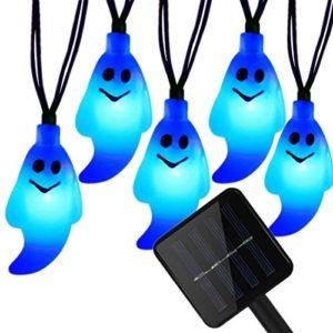 Außen Weihnachten Lichterkette,SUAVER 20LED Geist Solar Lichterkette 4.8m, Solarbetrieben Lichterkette Wasserdichte…