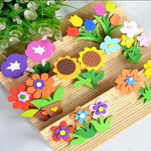 4 PCS Blase Papierblumen -Blatt und Blume Raumschmuck
