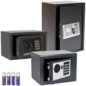 TecTake Elektronischer Safe Tresor inklusive 4 Batterien -diverse Modelle-