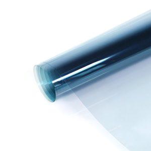 fancy-fix Transparente Sonnenschutzfolie (99% UV-Block) Fensterfolie für Sichtschutz und Hitzeschutz transparent-blau 76cm x 300cm
