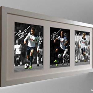 Unterzeichnet weiß 2016/17Dele Alli Harry Kane Christian Eriksen Tottenham Spurs Autogrammkarte Bild