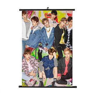 Yovvin NCT Rollbild Kakemono aus Stoff | NCT U NCT 127 NCT DREAM Taeil, Johnny, TaeYong, Yuta, Kun, DoYoung, JaeHyun…