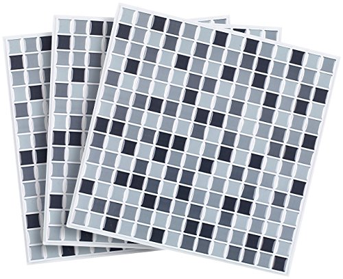 infactory deko fliesenaufkleber selbstklebende 3d mosaik. Black Bedroom Furniture Sets. Home Design Ideas