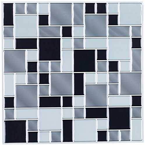 infactory selbstklebende folie selbstklebende 3d mosaik. Black Bedroom Furniture Sets. Home Design Ideas