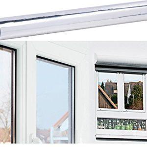 infactory Fensterfolie: Selbsthaftende Isolier-Spiegelfolie mit Sicht-/UV-Schutz, 40 x 200 cm (Sonnenschutzfolie selbsthaftend)